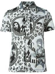 рубашка с перфорированным узором Jean Paul Gaultier Vintage