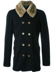 трикотажный пиджак с меховым воротником Jean Paul Gaultier Vintage