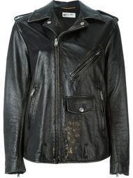 свободная байкерская куртка  Saint Laurent
