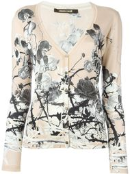 printed v-neck cardigan Roberto Cavalli