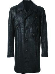 пальто с потертой отделкой Comme Des Garçons Vintage