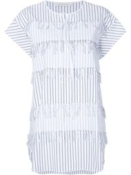 frayed striped blouse Cédric Charlier