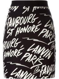 юбка с логотипом  Lanvin
