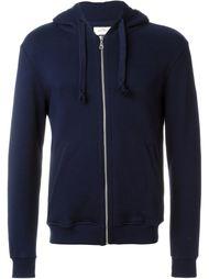 zip up cuff detail hooded jacket The White Briefs
