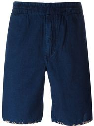 contrast trim denim bermudas Paul Smith Red Ear