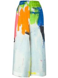 брюки с принтом мазков краски Daniela Gregis