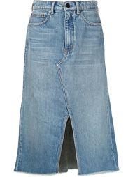 джинсовая юбка-миди Alexander Wang
