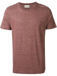 'Harper' fine stripe T- shirt Oliver Spencer