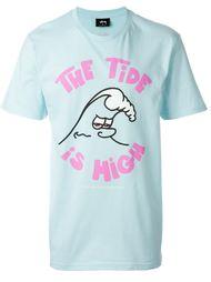 футболка с принтом  Stussy