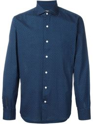 geometric pattern button down shirt Barba