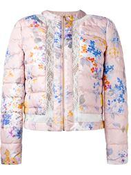 стеганая куртка с цветочным принтом Blumarine
