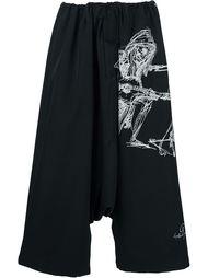 укороченные брюки с принтом Yohji Yamamoto