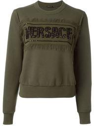 military embellished sweatshirt Versace