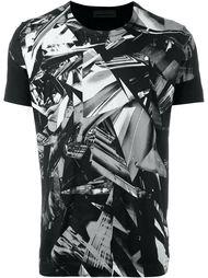 футболка с принтом разбитого стекла Diesel Black Gold