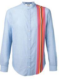 рубашка с контрастной полоской MSGM