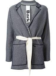 belted knit jacket Bark