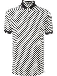diagonal stripe polo shirt Dolce & Gabbana