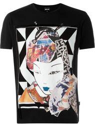 футболка с принтом гейши Just Cavalli