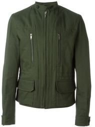 tab neck pocket detail zip up military jacket Haider Ackermann