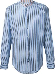 полосатая рубашка с воротником-стойкой MSGM