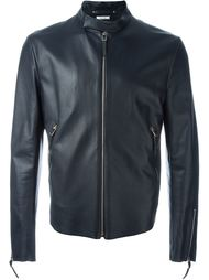 zip front leather jacket Paul Smith
