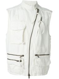 asymmetric zip fastening sleeveless gilet Haider Ackermann