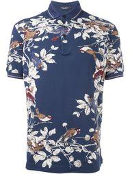 bird print polo shirt Dolce & Gabbana