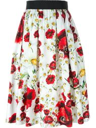 daisy and poppy print skirt Dolce & Gabbana