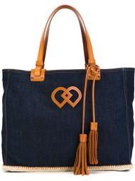 джинсовая сумка-тоут с логотипом  Dsquared2
