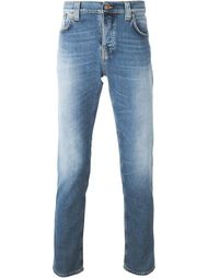 'Salty Stone' stretch fabric straight leg jeans Nudie Jeans Co