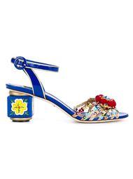 Open Toe Pom Pom Sandals Dolce & Gabbana