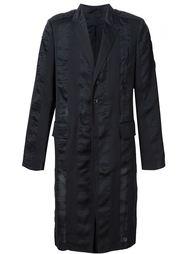 пальто с полосатыми панелями Ann Demeulemeester