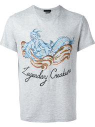 футболка с принтом мифического существа Alexander McQueen