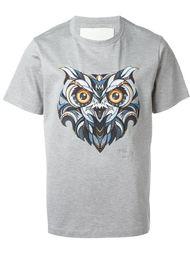 футболка с принтом совы Juun.J