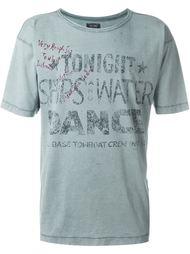 футболка с принтом с линялым эффектом Armani Jeans