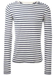 striped boat neck relaxed fit jumper Nudie Jeans Co