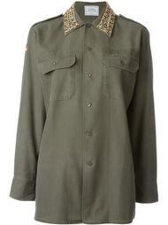 рубашка 'Thunder' с декорированным воротником Forte Couture