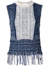 frayed knit tank top Mame