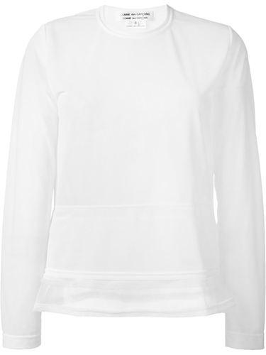 полупрозрачная футболка с длинными рукавами Comme Des Garçons Comme Des Garçons