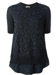 свитер с цветочной аппликацией  Moncler