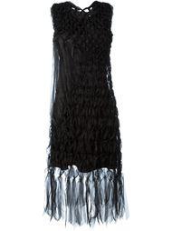 fringed hem midi dress Comme Des Garçons Noir Kei Ninomiya