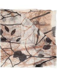 шарф с лиственным принтом Brunello Cucinelli