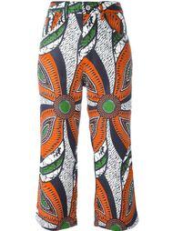 расклешенные укороченные брюки  Junya Watanabe Comme Des Garçons