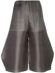 плиссированные укороченные брюки  Issey Miyake Cauliflower
