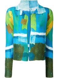 textured fitted jacket Issey Miyake Cauliflower