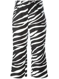 zebra print cropped trousers Junya Watanabe Comme Des Garçons
