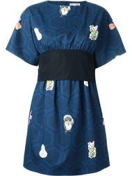 короткое платье с поясом Olympia Le-Tan