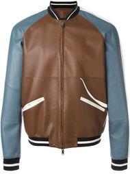 куртка-бомбер с цветочной аппликацией Valentino