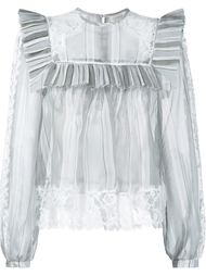 Silk Frill Collar Blouse Zimmermann