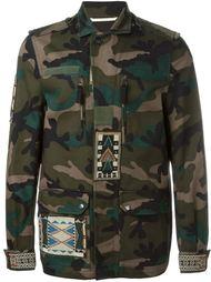 камуфляжная куртка с аппликациями из бисера Valentino